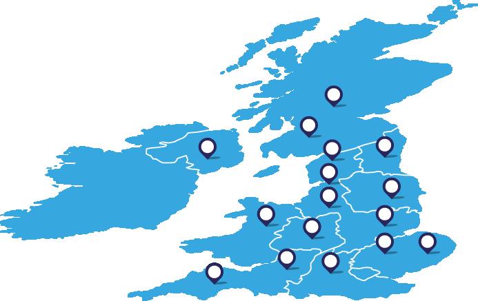 LCE map UK